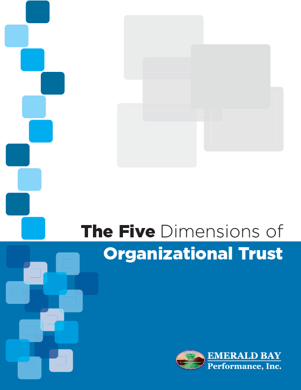five dimensions of organizational trust